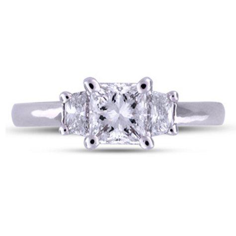 1.33 ct. t.w. Premier Diamond Collection Radiant & Trapezoid Cut Diamond Ring  (H, VS2)