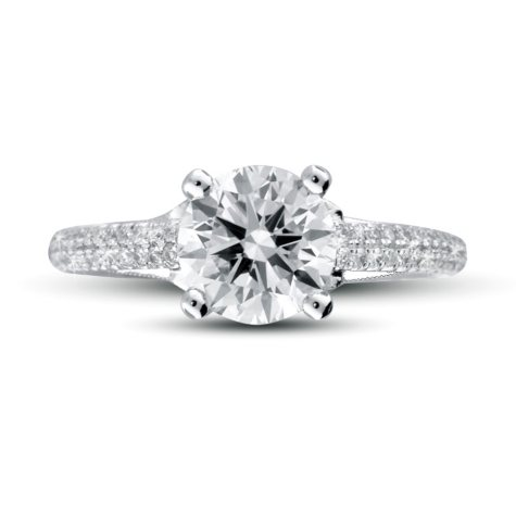 1.85 ct. t.w. Premier Diamond Collection Round & Pave Diamond Ring (H, SI1)