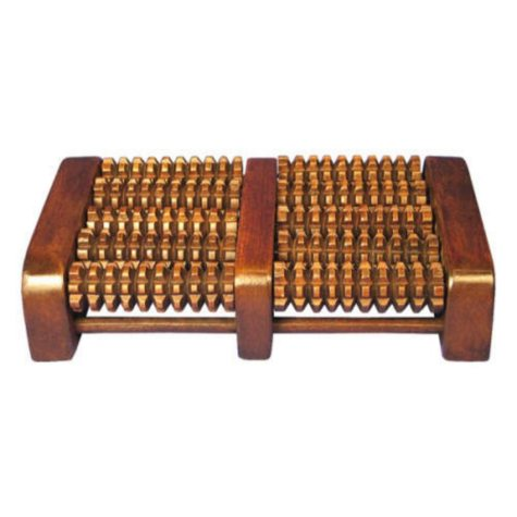Therapeutic Rolling Teak Wood Foot Massager