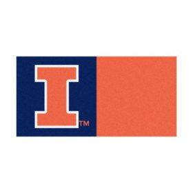 NCAA - University of Illinois Team Carpet Tiles