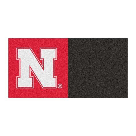 NCAA - University of Nebraska Team Carpet Tiles