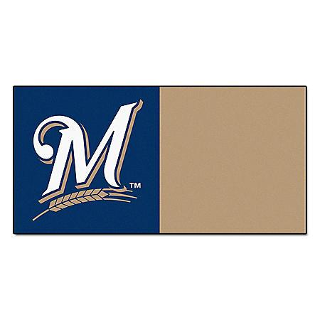 MLB - Milwaukee Brewers Team Carpet Tiles