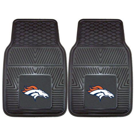 NFL - Denver Broncos 2-pc Vinyl Car Mat Set