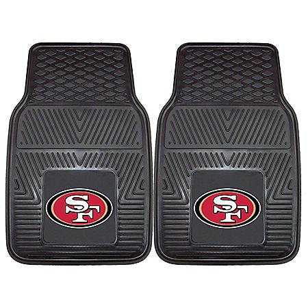 NFL - San Francisco 49ers 2-pc Vinyl Car Mat Set