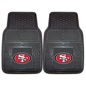 NFL - San Francisco 49ers 2-pc Vinyl Car Mat Set