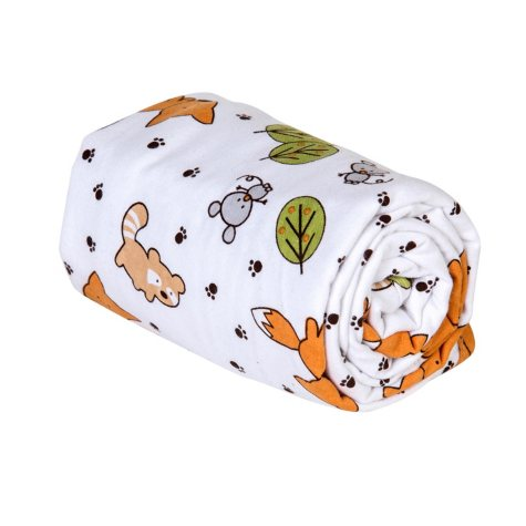 Trend Lab Flannel Swaddle Blanket, Friendly Forest