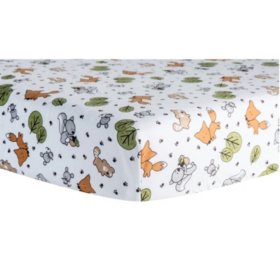 Trend Lab Flannel Fitted Crib Sheet, Friendly Forest