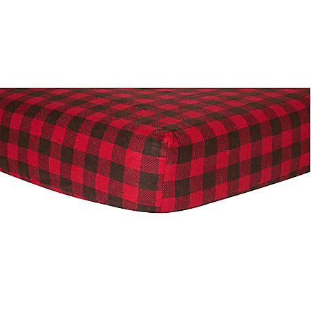 Trend Lab Flannel Fitted Crib Sheet, Buffalo Check