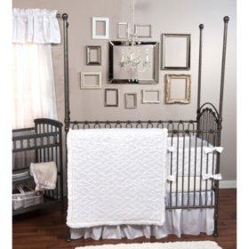 Trend Lab 3-Piece Crib Bedding Set, Marshmallow