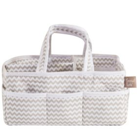 Trend Lab Storage Caddy, Dove Gray Chevron
