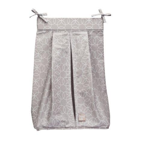 Trend Lab Diaper Stacker, Circles Gray