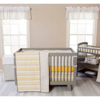 Trend Lab 3-Piece Crib Bedding Set, Buttercup Zigzag