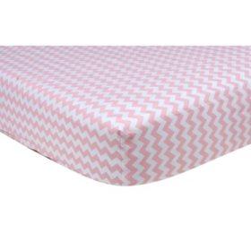 Trend Lab Crib Sheet, Pink Sky Chevron