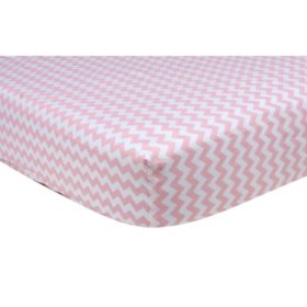 Trend Lab Crib Sheet, Pink Sky Chevron