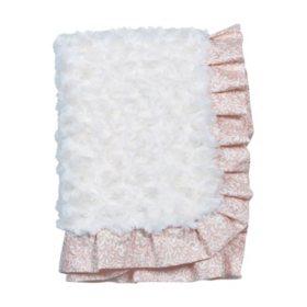 Waverly Rosewater Glam Baby Blanket, Rosette