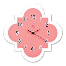 Trend Lab Wall Clock, Coral Quatrefoil