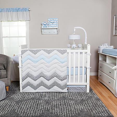 Trend Lab 3-Piece Crib Bedding Set, Blue Taffy