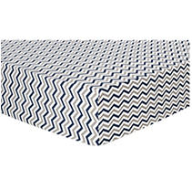 Trend Lab Flannel Fitted Crib Sheet, Navy Gray White