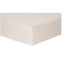 Trend Lab Flannel Fitted Crib Sheet, Doe & Wht Chevron