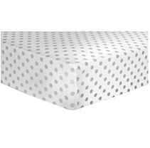 Trend Lab Flannel Fitted Crib Sheet, Gray Dot