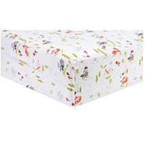 Trend Lab Flannel Fitted Crib Sheet, Winter Woods