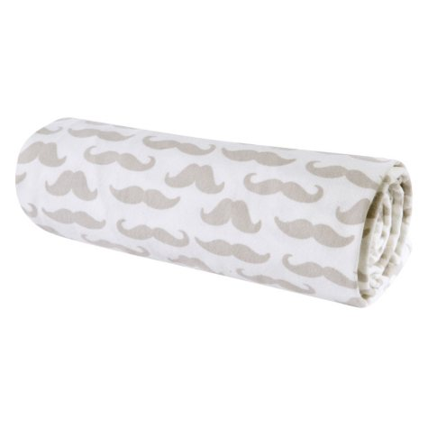 Trend Lab Flannel Swaddle Blanket, Mustaches