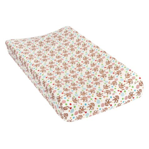 Trend Lab Flannel Changing Pad Cover, Monkeys
