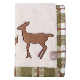 Trend Lab Framed Coral Fleece Baby Blanket, Deer Lodge