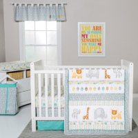 Trend Lab 6-Piece Crib Bedding Set, Lullaby Jungle