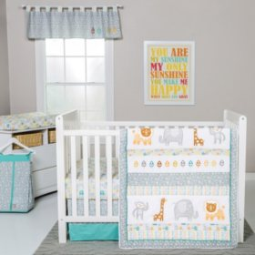 Trend Lab 6-Piece Crib Bedding Set, Lullaby Jungle