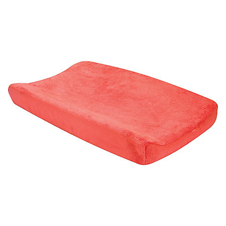 Trend Lab Plush Changing Pad Cover, Porcelain Rose Coral