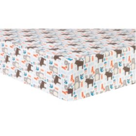 Trend Lab Deluxe Flannel Fitted Crib Sheet, Scandi Forest