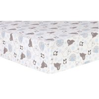Trend Lab Deluxe Flannel Fitted Crib Sheet, Igloo Friends