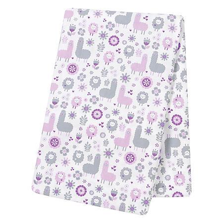 Trend Lab Jumbo Deluxe Flannel Swaddle Blanket, Llama Friends