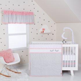 Trend Lab 4-Piece Crib Bedding Set, Be Happy