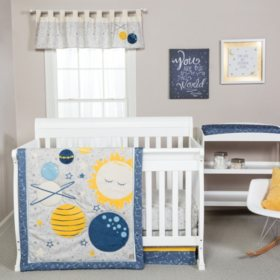 Trend Lab 4-Piece Crib Bedding Set, Galaxy