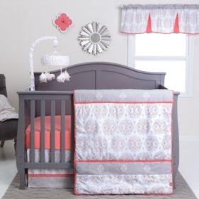 Trend Lab 4-Piece Crib Bedding Set, Valencia