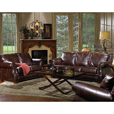 Quest Furniture Julien 3-Piece Leather Living Room Set