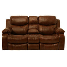 Colton Leather Reclining Loveseat