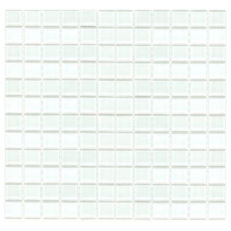 "1"" White Mosaic Glass Tile - Sample"