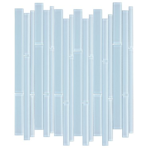Blue Bamboo Mosaic Glass Tile - Sample