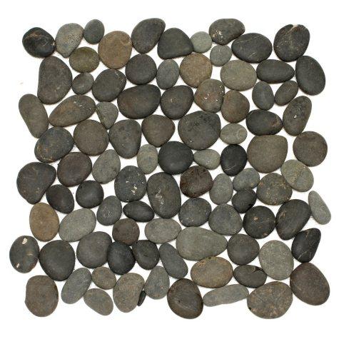 Large Black Mosaic Pebble Tile - Sample