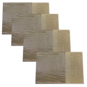 Dansk Pieced Shimmer Placemats, Natural (4-pack)