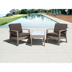 Cavalier Wicker Balcony Set  in Choice Brown or Gray Color