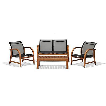 Sabadel Eucalyptus Deep Patio Seating Set (4 pcs.)