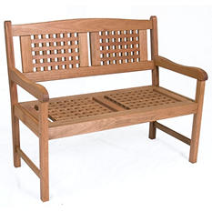 Cordoba Eucalyptus Patio 2-Seater Bench