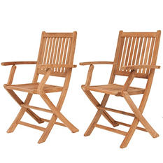 Cittadella Teak Patio Folding Armchair Set (2 pcs.)