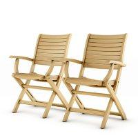 Varese Teak Patio Folding Armchair Set (2 pcs.)