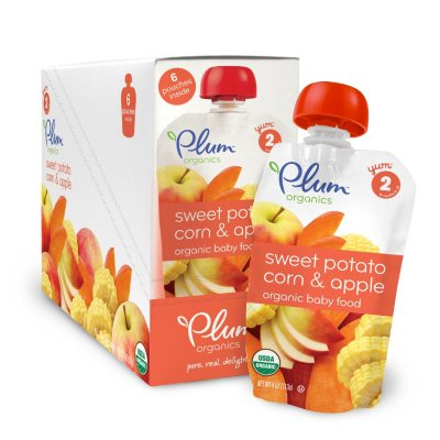 Plum Organics Stage 2 Organic Baby Food, Sweet Potato Corn Apple (4 oz., 6 pk.)