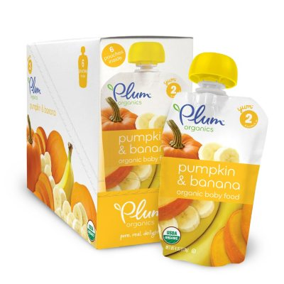 Plum Organics Stage 2 Organic Baby Food, Pumpkin Banana (4 oz., 6 pk.)